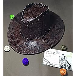 Sombrero Vaquero Hombre Adulto Panama Hyde en relieve Cuero