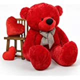GURUDEV Loveable HUGABLE Soft Giant Life Size , Long Huge Teddy Bear(Best for Someone Special) RED 3 Feet 90 cm with…