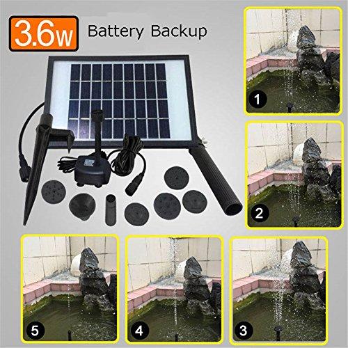 Bomba Agua Panel Energía Solar Con Batería Con Luces Led Monocristalino Bomba Agua 9V/3.6W 260L/H