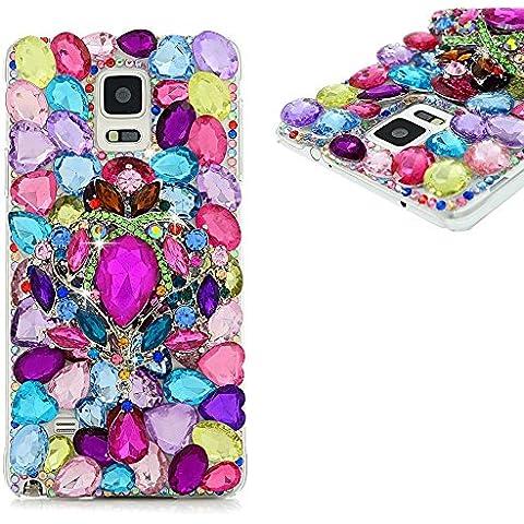 Spritech (TM) Bling, 3d hecho a mano diseño de cristal de colores Transparente Carcasa rígida para teléfono móvil funda, PT-1, Samsung Galaxy S5
