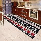 GRENSS Dünne, frische und einfache Küche Bad Fußmatte zu Rest secure Anti-geschmacklos Teppich Fußmatte Slip, 400 mm * 1200 mm, Küche - die Kühe.