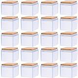 NICEXMAS 20 Piezas Protectores de Piso para Patas de Sillas Tapas de Patas de Sillas de Silicona Protectores de Pies de Silla