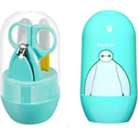 My NewBorn Baby Grooming Kit with Nail Cutter Foiler Scissors and Tweezer for Infants and Toddlers/Light Green