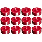 Madhulica Candles BDS Candles 14081 Scented SMOKELESS RED Tea Light Candles - Pack of 20 PCS