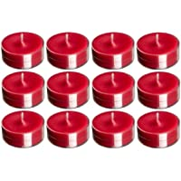 Madhulica Candles BDS Candles 14081 Scented SMOKELESS RED Tea Light Candles - Pack of 100PCS