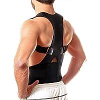 Evrum Posture Corrector Shoulder Magnetic Back Support Belt Posture Corrector Therapy Shoulder Belt for Upper Back Pain…