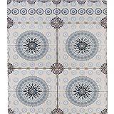 Marokkanische Fliesen Wandfliesen 1 qm bunt Muster 6   Orientalische Fliese als Wanddekoration im Bad oder Küchenrückwand   Bunte Mosaikfliesen Design als Deko für die Wand im Badezimmer Küche