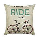 hengjiang Retro Fahrrad Story Home Kissen Bezug Baumwolle Bettwäsche Kissenbezug Quadratisch Double-Seite Kissen Classic Bike Geschichte (# 00) #10