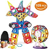VIDEN Magnetische Bausteine, 109 Teile Mini Magnetische Bauklötze, Pädagogisches Spielzeug Perfektes DIY Spielzeug oder Kinder Geschenk für Baby Kleinkinder ab 3 Jahre