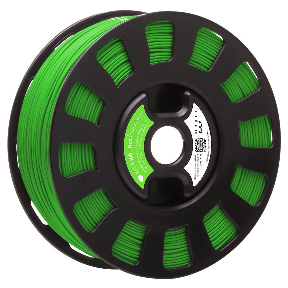 Robox Rbx-pet-nggr2 Smartreel Colorfabb Ngen Filament, 1.75 mm, Vert clair
