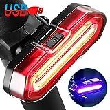 BYBLIGHT Rear Bike Light - USB Rechargeable, 5 Light Modes, Super Bright LED