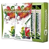 Neuronade ® - Think Drink für Konzentration & gegen Müdigkeit   mit Ginkgo Biloba, Brahmi (Bacopa Monnieri), Rosenwurz (Rhodiola Rosea), Aronia, Biotin, Vitamin B12 & B5   100% vegane Nervennahrung