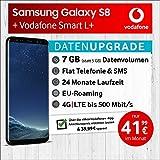 Samsung Galaxy S8 (Schwarz) mit 64 GB internem Speicher, Vodafone Smart L+ inkl. 7GB Highspeed Volumen mit Max 500 Mbits, inkl. Telefonie- und SMS Flat, EU-Roaming, 24 Monate Min. Laufzeit