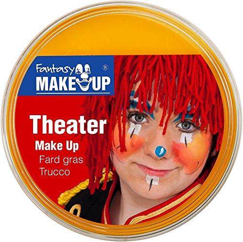 Festartikel Müller Theater Make Up Farbe gelb 25 g Fasching Halloween Schminke