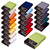 SPANNBETTLAKEN WASSERBETTEN BOXSPRINGBETTEN 180x200 bis 200x220 170gr Öko Tex Zertifikat Avantgarde 100% Baumwolle 19 Farben (hellgrün)