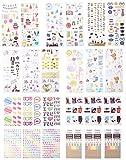Polaroid Bunte & dekorative Aufkleber-Sets für Instant-Fotopapier-Projekte (Snap, Zip, Pop, Z2300) - 9 Einzigartige Sets (Hochzeit, Reise, Party, Abc, ABC, Liebe, Graduierung, Baby, Kamera, Logo)