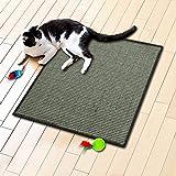 Floori® Sisal Kratzteppich | Naturfaser: nachhaltig und umweltfreundlich | Grau Khaki, 50x50cm