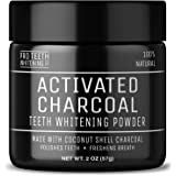 Activated Charcoal Teeth Whitening Powder - 100% Natural Vegan Friendly - Enamel Safe Formula - Peppermint Flavour - Made in