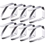 Blooven Tablecloth Clips 8 Pack Stainless Steel Table Cover Clamps Table Cloth Holders