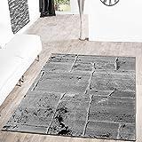 Alfombra, moderno diseño de suelo marmolado, color gris, gris, 160 x 220 cm