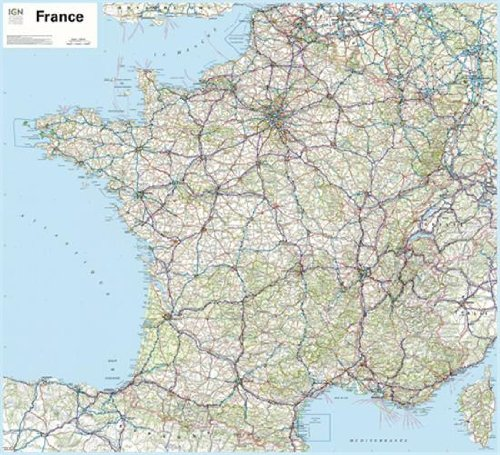 70035 FRANCE ROUTIERE 901 PLASTIFIEE 1/1M  100X110cm