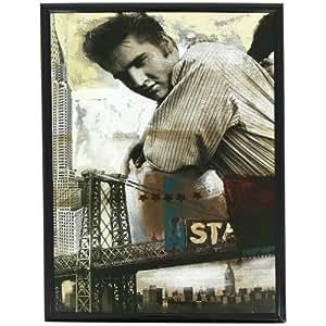 New York -Cadre Photo Retro Star Tableau New York Portrait Elvis Presley