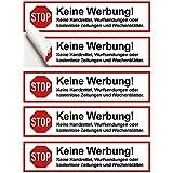 8 Stück Premium STOP Keine Werbung und kostenlose Zeitungen Aufkleber - Werbung einwerfen verboten Briefkasten Aufkleber - Werbung unerwünscht Hinweis Aufkleber Schild gegen Werbebriefe, Handzettel