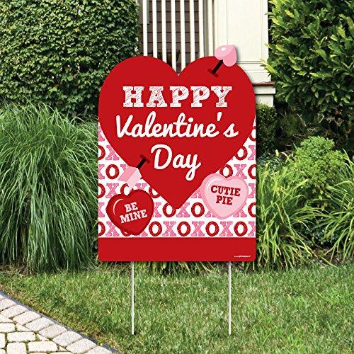 Big Dot of Happiness Gespräch Herzen-Party Dekorationen-Valentine 's Day Party Welcome Yard Schild