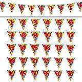 1 WIMPELKETTE / GIRLANDE 10 m 12.Geburtstag PARTY DEKO