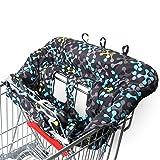 Amazy Protège chariot pour bébé + Sac de transport - Protection caddie enfant, pour plus d'hygiène et de sécurité au supermarché
