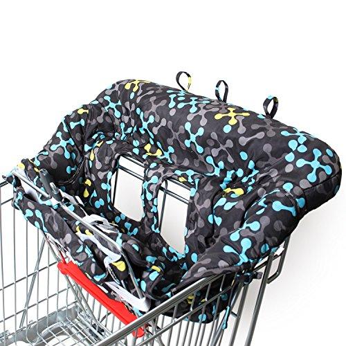 Amazy Einkaufswagenschutz mit Gurt - Der praktische Sitzbezug für Einkaufswagen und Hochstuhl bietet Ihrem Baby optimalen Schutz und ein hohes Maß an Hygiene beim Einkaufen
