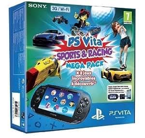 Console Playstation Vita Wifi 3G + Jeux à télécharger Sports & Course (PS Vita) + Carte Mémoire 8 Go