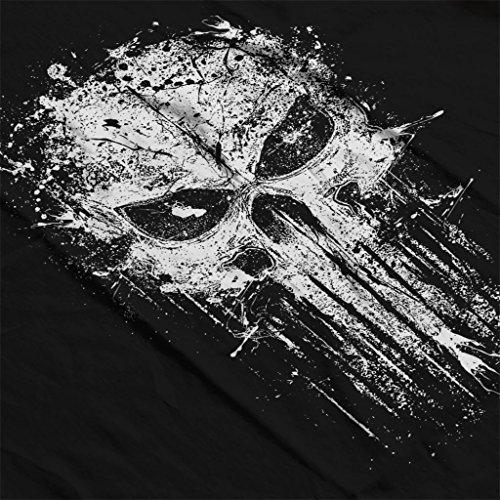 Punisher Splatter Skull Womens Hooded Sweatshirt Black