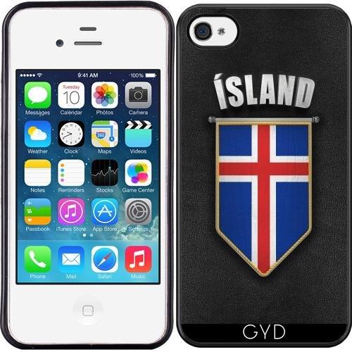 Leder Flip Case Tasche Hülle für Apple iPhone 6 Plus / 6S Plus - Island Wimpel Flagge by Carsten Reisinger Silicone
