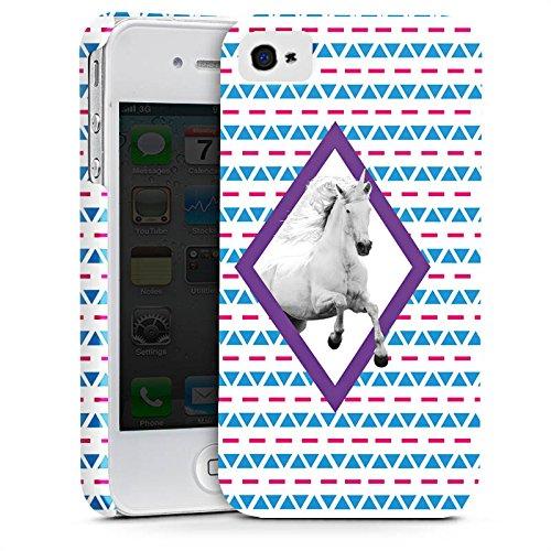 Apple iPhone X Silikon Hülle Case Schutzhülle Unicorn Einhorn Hipster Muster Premium Case glänzend