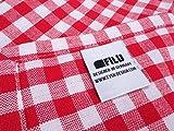 FILU Tischdecke 100 x 140 cm, Rot/Weiß (Farbe und Größe wählbar) Tischtuch aus 100% Baumwolle, elegant kariert und hochwertig durchgefärbt im skandinavischen Landhaus-Stil - 3