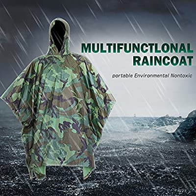 Waterproof Rain Poncho by DigHealth, Packable Lightweight Rain Coat for Men and Women, Hooded Rainwear with Emergency Grommet Corners for Shelter Use, Fast Dry Raincoat Slicker for Hiking, Long Travel