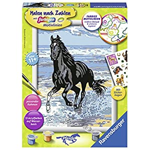 "Ravensburger 285655 ""Horse At The Beach Painting By Numbers Set"