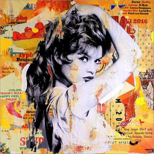 Poster 30 x 30 cm: Brigitte Bardot di Michiel Folkers - stampa artistica professionale, nuovo poster artistico
