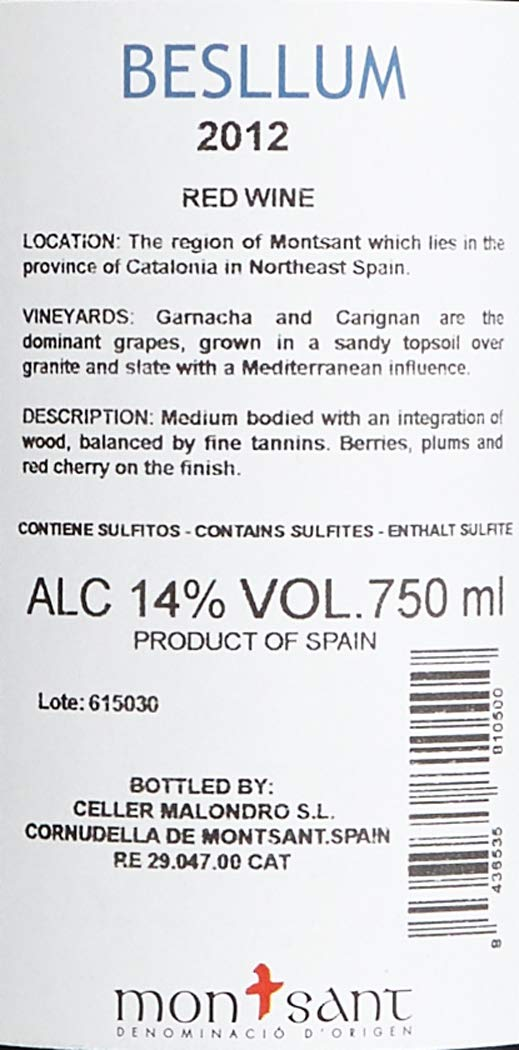 Celler-Malondro-Besllum-DO-aus-SpanienMontsant-Jahrgang-2012-trocken-3-x-075-l