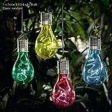 Poetryer Solar Lichter LED Solar Lampe Birne Wasserdichte Außen Garten Camping Hängend Beleuchtung für Fest, Halloween, Weihnachten, Zufällige Farbe
