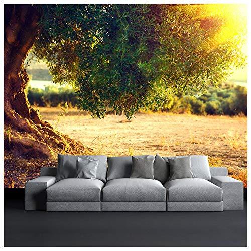 azutura Olivenbaum Fototapete Sonnenuntergang Landschaft Tapete Wohnzimmer Haus Dekor Erhältlich in 8 Größen Riesig Digital