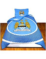 Manchester City FC - Parure de lit simple réversible