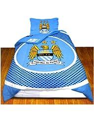 Manchester City FC - Parure de lit simple réversible