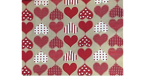 Telo arredo shabby Rosso pois bianco 270x280 granfoulard Copridivano Cotone