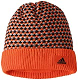 adidas Kinder Climaheat Striped Knit Beanie Bold Orange/Core Heather/Black OSFY