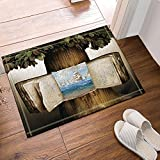 Creative livre sur l'arbre Voir le navire sur la mer Tapis de bain anti-dérapant paillasson entrées au sol Tapis de porte d'entrée d'intérieur extérieur Kids Bath Mat 60X40CM Accessoires de salle de bains