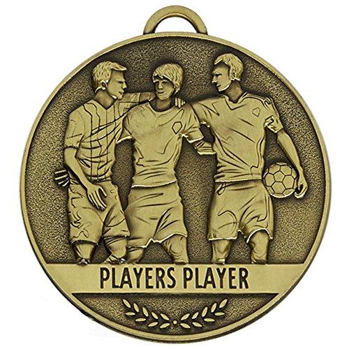60mm Team Spirit Spieler Medaille Fußball Spieler Player mit Gratis Gravur bis zu 30Buchstaben + Band