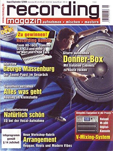 Recording Magazin 5 2008 mit DVD - Gitarre aufnehmen - Vocal Recording Videoseminar Teil 2 - aufnehmen - mischen - mastern