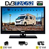 Gelhard GTV2021 LED TV 20 Zoll Wide Screen DVB/S/S2/T2/C, USB, 230/12 Volt